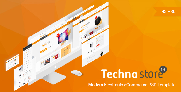 Techno Store - Electronic eCommerce PSD - Retail PSD Templates