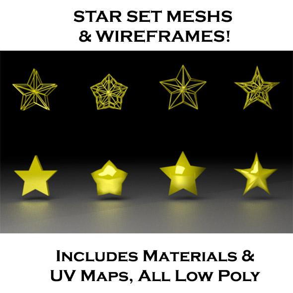 Star Set - 3DOcean Item for Sale