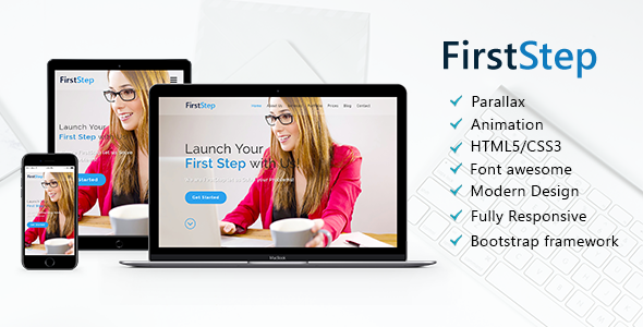 FirstStep – One Page Parallax