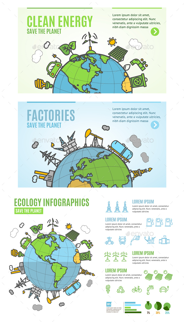 Ecology Infographics Banner Card - Nature Conceptual