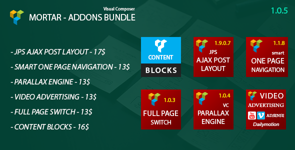 Mortar - Visual Composer Addons Bundle - CodeCanyon Item for Sale