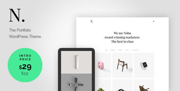 Nobu – Creative Portfolio WordPress Theme
