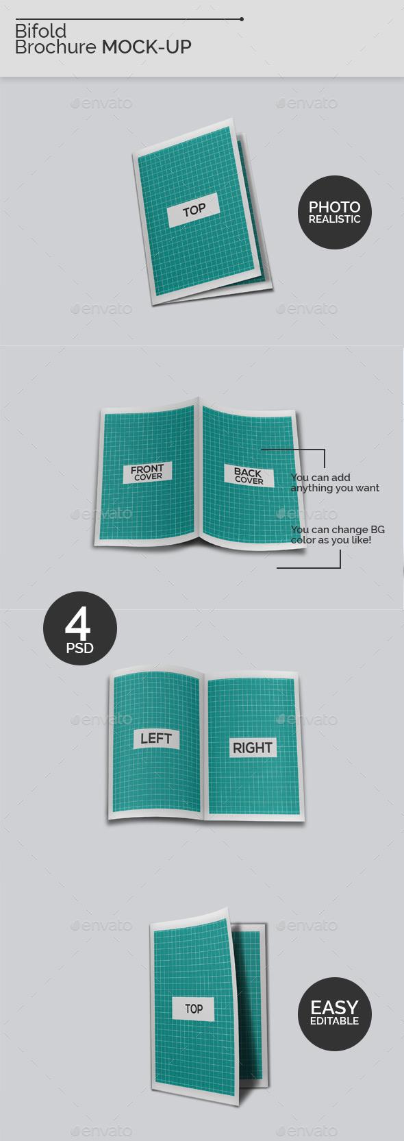Bifold Borchure Mock-Ups V2 - Brochures Print