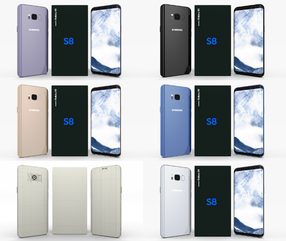 Samsung Galaxy S8 Pack - 3DOcean Item for Sale