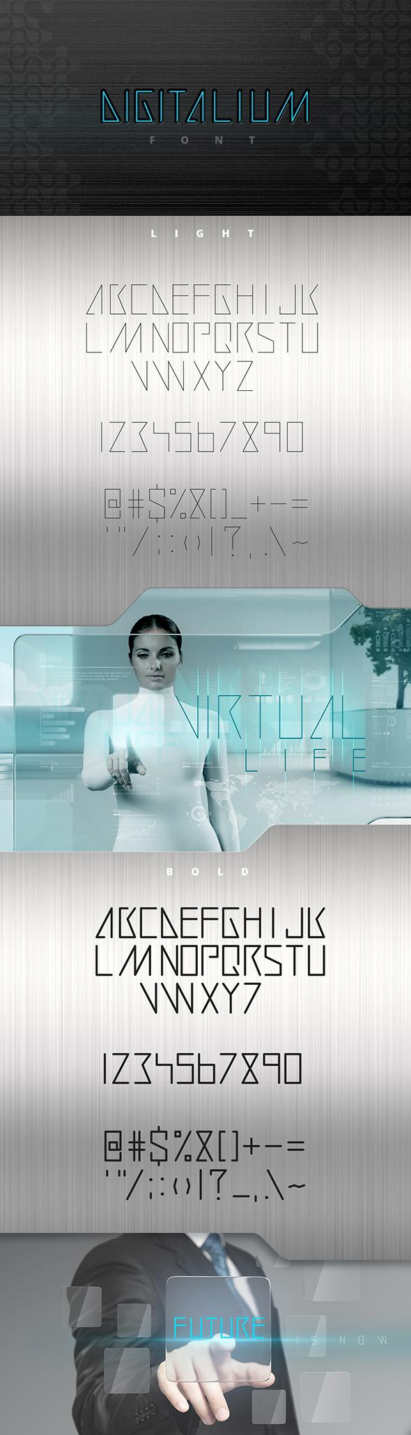 Digitalium Future Font - Fonts