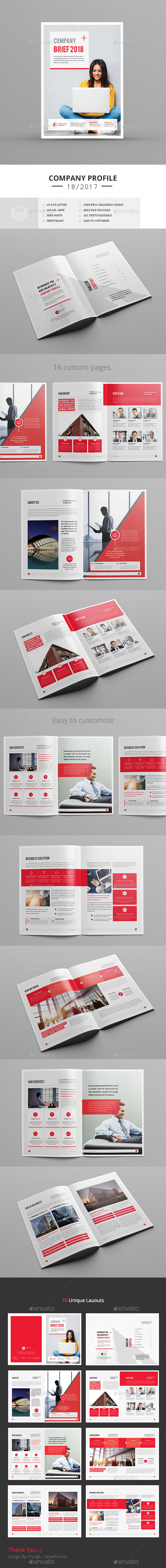 Creative Brief Template - Corporate Brochures