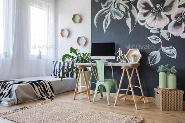 Bright studio apartment - Stock Photo - Images