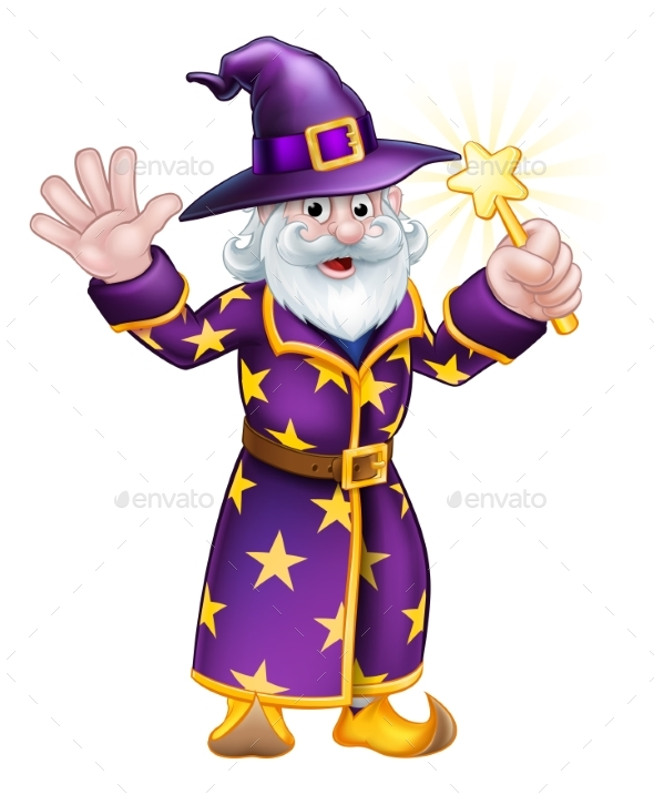 Wizard Cartoon Character - People Characters
