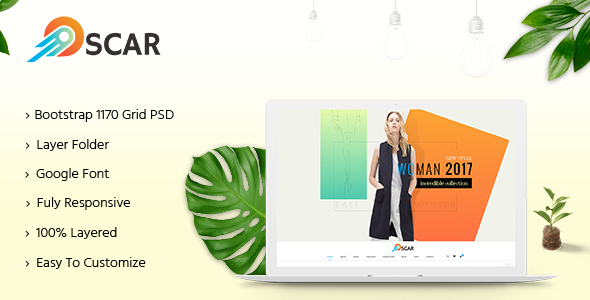 Oscar – Multipurpose PSD Template