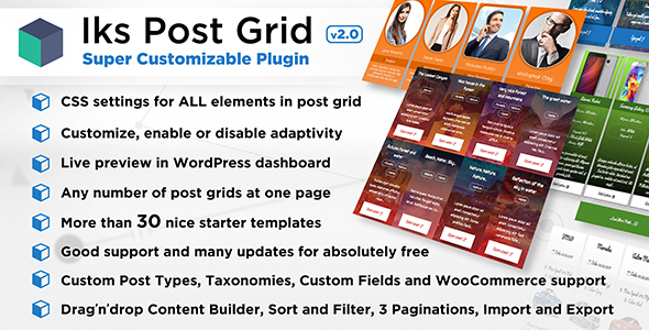 Iks Post Grid - Super Customizable Post Grid, Portfolio, Showcase or Woo for WordPress - CodeCanyon Item for Sale