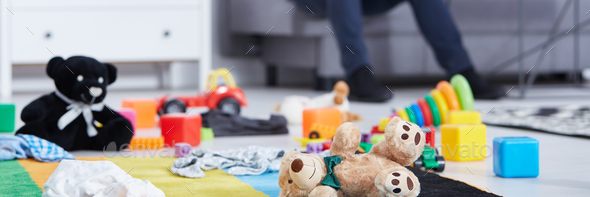 Carpet with children's toys - Stock Photo - Images