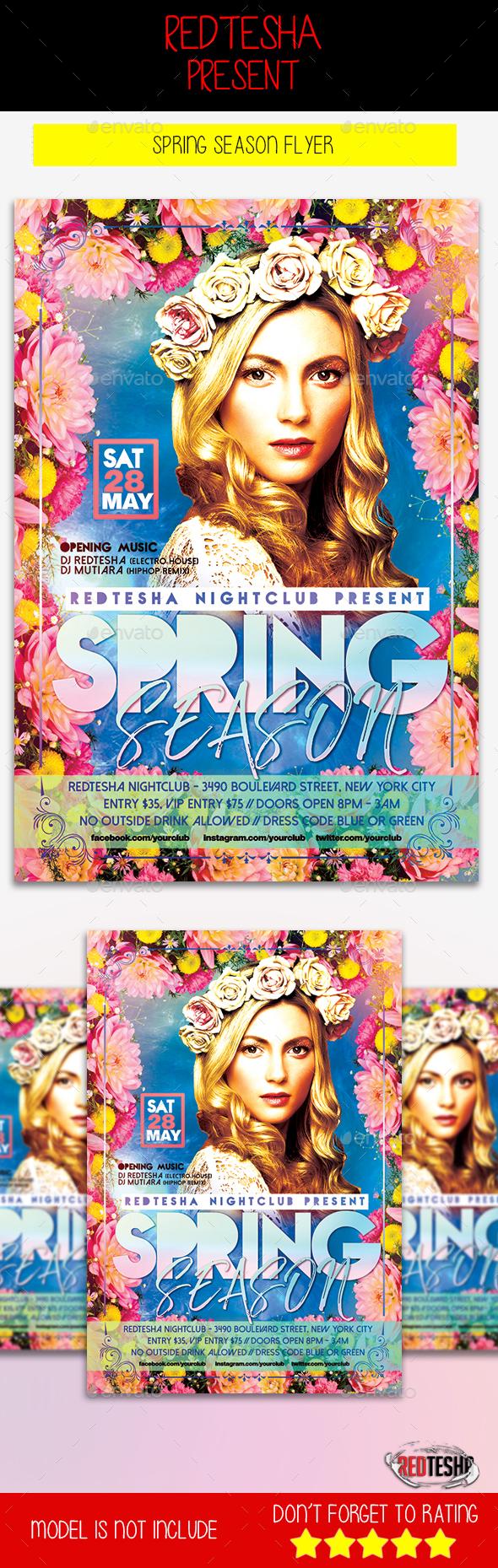 Spring Season Flyer - Events Flyers