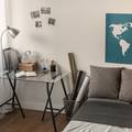 World map on the wall