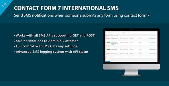 CF7 International SMS - CodeCanyon Item for Sale