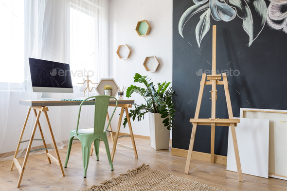 Bright work space - Stock Photo - Images