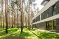 Modern house surrounded by trees - PhotoDune Item for Sale