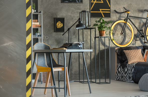 Multifunctional room for freelancer - Stock Photo - Images