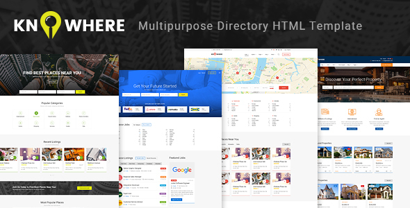 Knowhere – Multipurpose Directory HTML Template