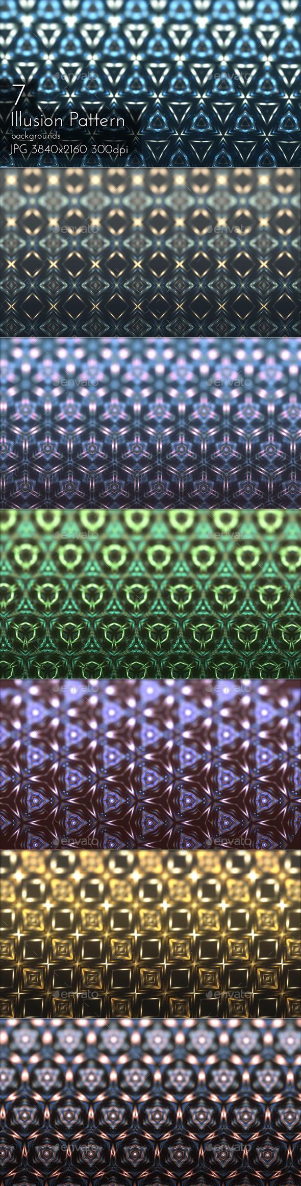 Illusion Glowing Pattern - Patterns Backgrounds