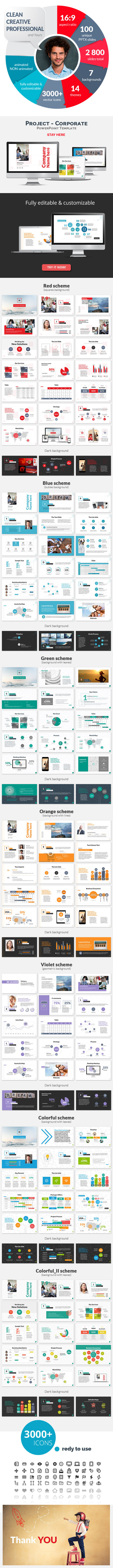 Project - Corporate PowerPoint Presentation Template - PowerPoint Templates Presentation Templates