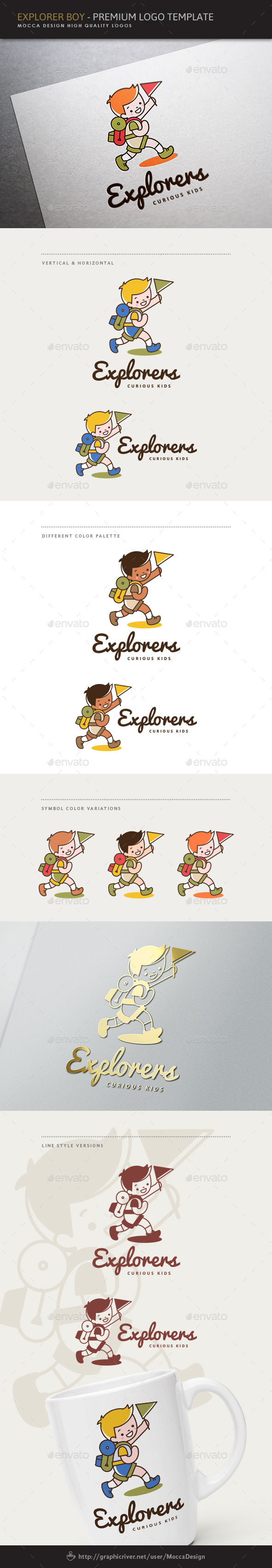 Explorers - Explorer Boy Logo - Humans Logo Templates