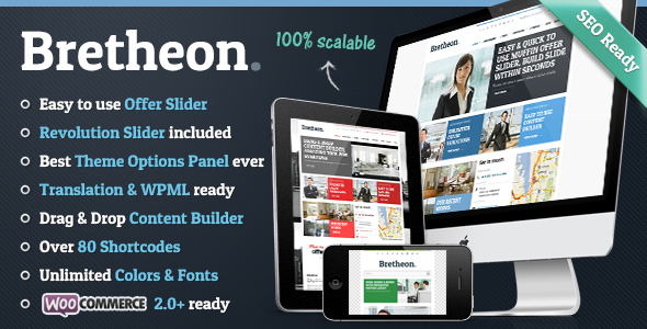 Bretheon WordPress Theme - Business Corporate