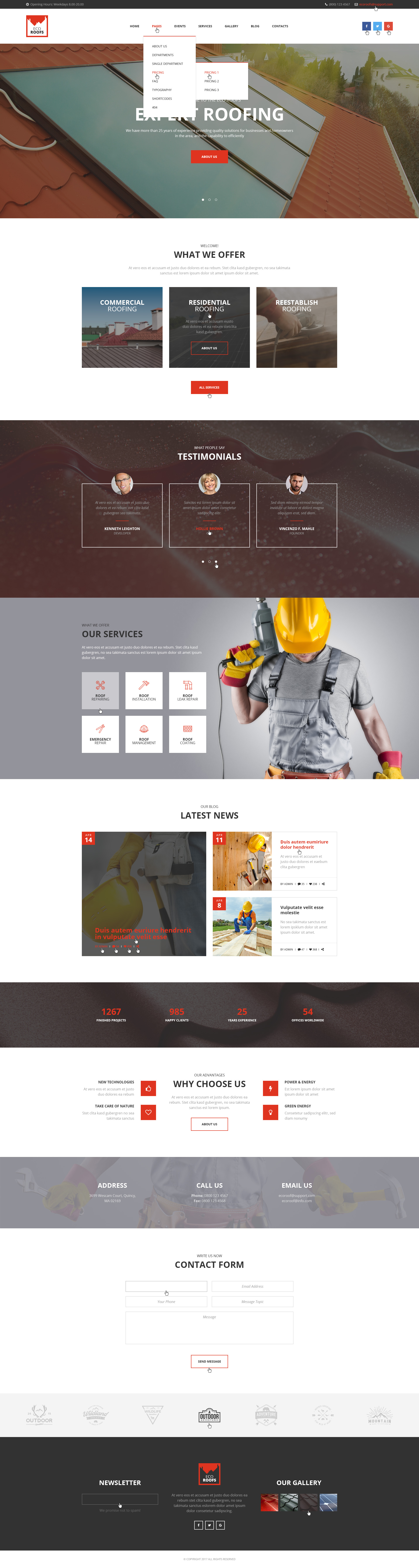 Eco Roofs - Roofing Renovation PSD Template by mwtemplates | ThemeForest