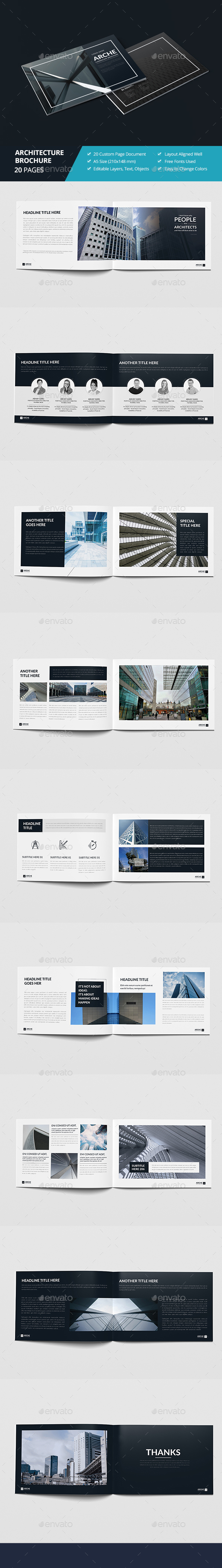 Haweya Architecture Brochure 02 - Brochures Print Templates