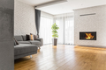 Living room with wood flooring - PhotoDune Item for Sale