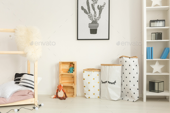 Functional, modern child bedroom - Stock Photo - Images