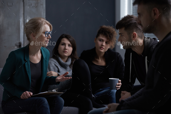Patients of rehab centre - Stock Photo - Images