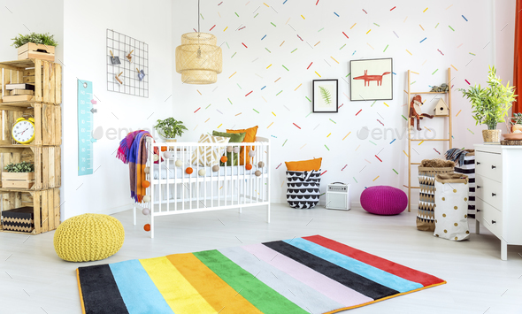 Modern baby room - Stock Photo - Images