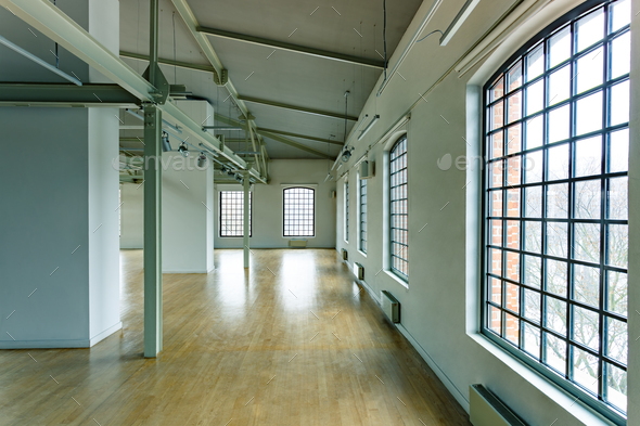 Building with loft windows - Stock Photo - Images