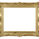 Download Old antique gold frame on white from PhotoDune