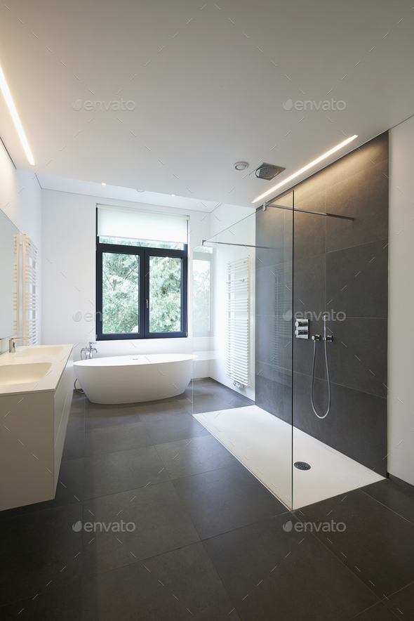 Luxury modern bathroom - Stock Photo - Images