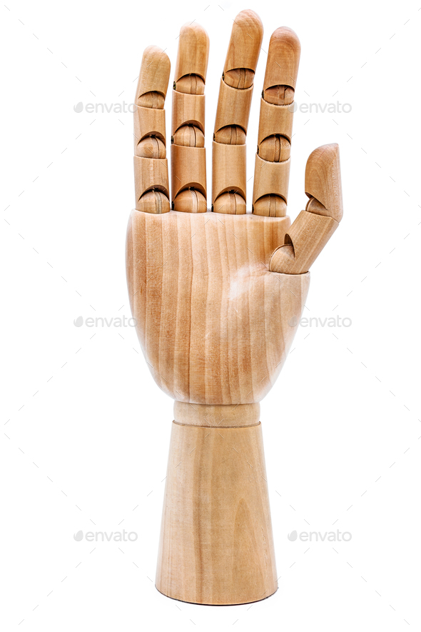 Wooden hand - Stock Photo - Images