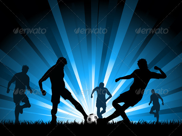 Men playing soccer - Sports/Activity Conceptual