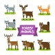 Forest Animals Set. Illustration in Flat Design. - GraphicRiver Item for Sale