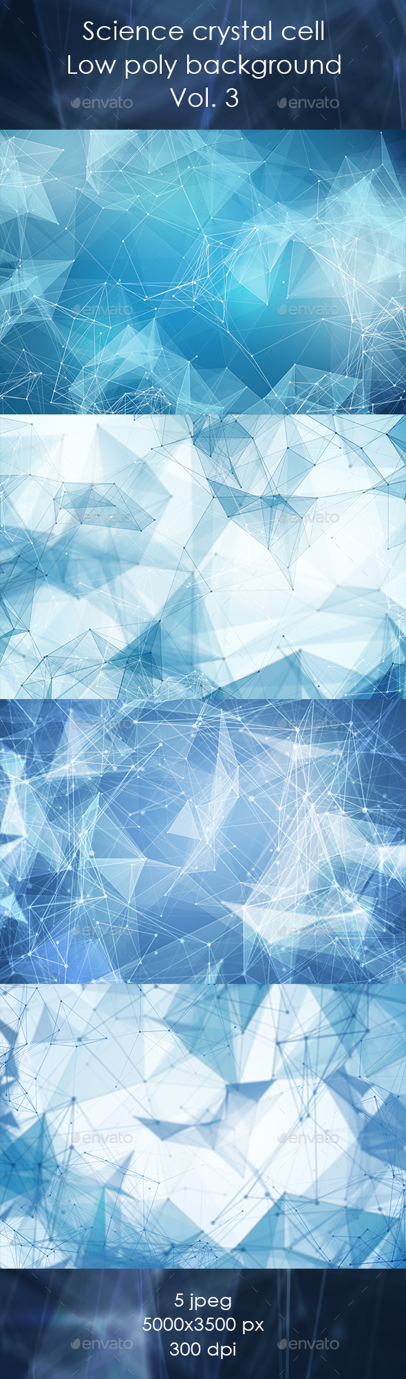 Light Blue Low Poly Background - Abstract Backgrounds