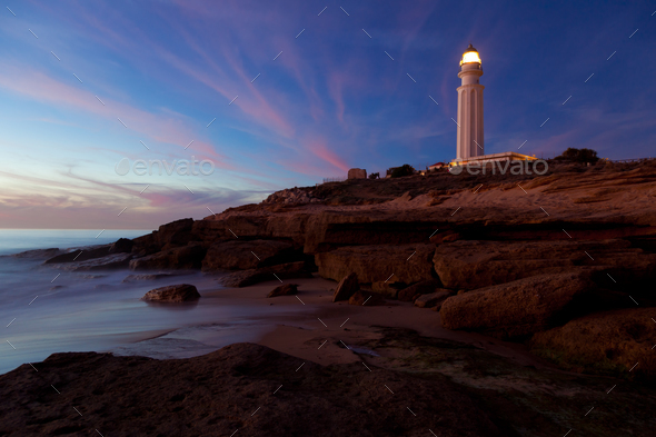 Lighthouse of Trafalgar, Cadiz - Stock Photo - Images