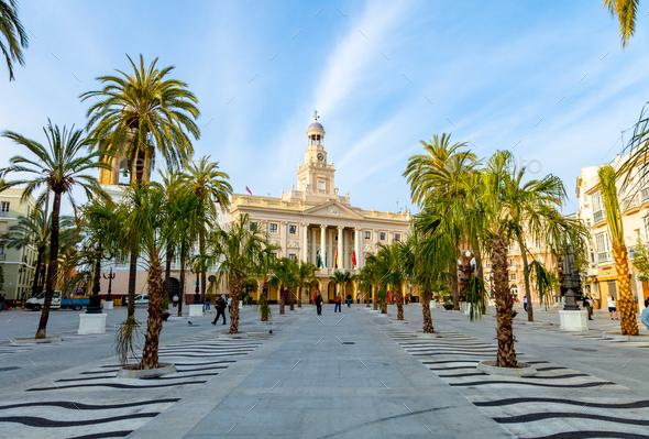 City hall of Cadiz, Spain - Stock Photo - Images