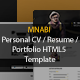 MNABI Personal CV/Resume Portfolio HTML5 Template - ThemeForest Item for Sale