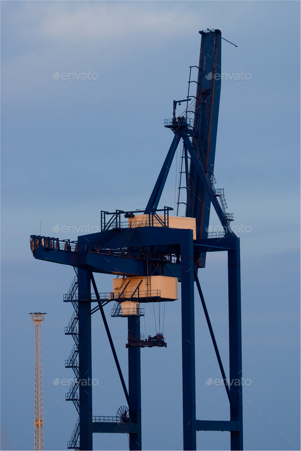 Crane in the port - Stock Photo - Images