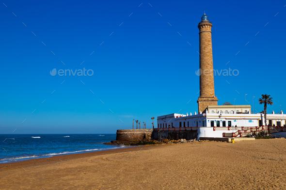 Lighthouse of Chipiona, Cadiz - Stock Photo - Images