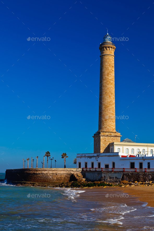 Lighthouse of Chipiona, Cadiz - Stock Photo - Images