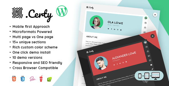 12+ Best WordPress Resume Themes to Build Your Own vCard 5