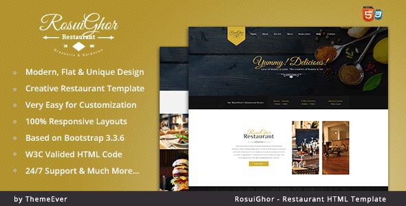 Rosuighor – Restaurant HTML Template