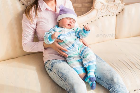 Cute baby boy, closeup portrait of adorable child - Stock Photo - Images