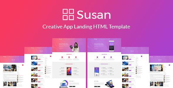 SUSAN App Landing Page