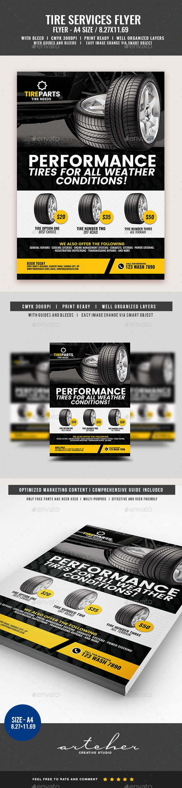 Tire Service Flyer - Commerce Flyers